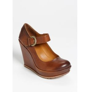 Kork-Ease Yuli Mary-Jane Wedge Pumps Tan Leather